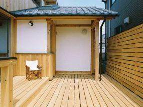 木組みの家「五香の木の家」デッキ