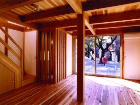 木組みの家「川越の家」大黒柱2