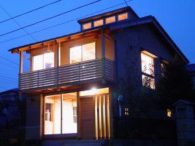 木組みの家「川越の家」夜景