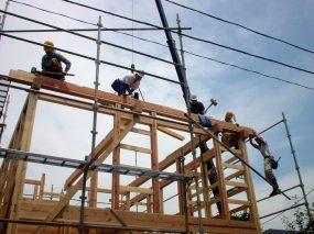 木組みの家「川越の家」建て方