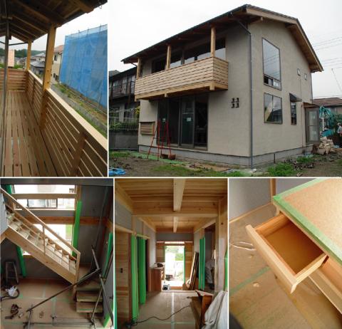 「日高の家」大工工事完了