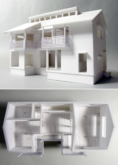 「善福寺の家・II」1:100模型ができました