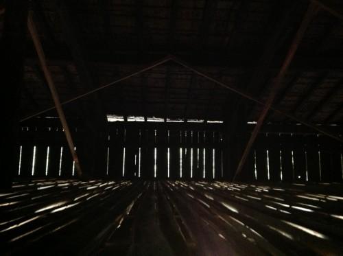 ワークショップ「き」組植林ツアー実測屋根裏