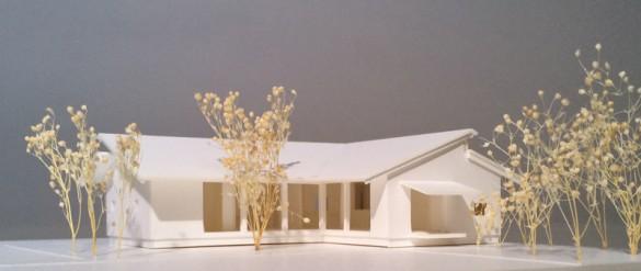 「佐倉の平屋」模型1:100B