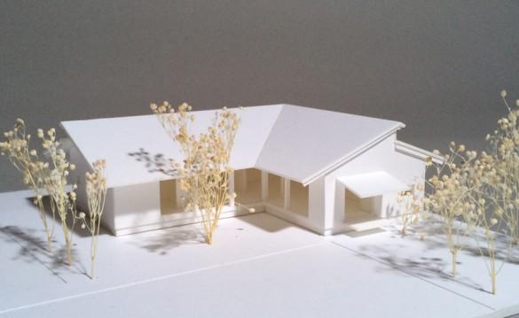 「佐倉の平屋」模型1:100A