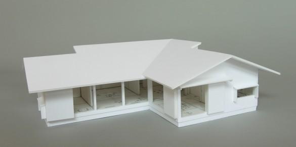 木組みの家「佐倉の平屋」模型1:50A