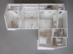 木組みの家「佐倉の平屋」模型1:50C