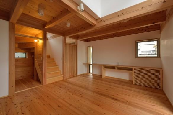 木組みの家「八王子の家」完成居間