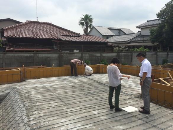 木組みの家「佐倉の平屋」配筋の様子3