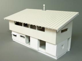 「松本城の見える家」模型俯瞰