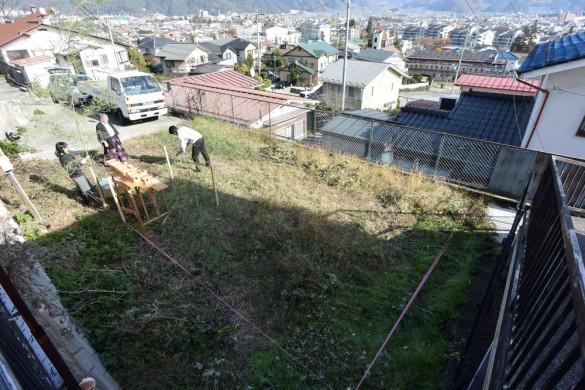 木組みの家「松本城のみえる家」配置