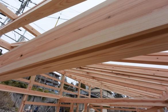 木組みの家「松本城のみえる家」上棟6