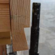 木組みの家「松本城のみえる家」眉欠き
