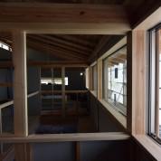 木組みの家「松本城のみえる家」2F架構