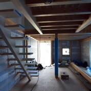木組みの家「松本城のみえる家」内観150615