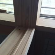 木組みの家「松本城のみえる家」障子の框