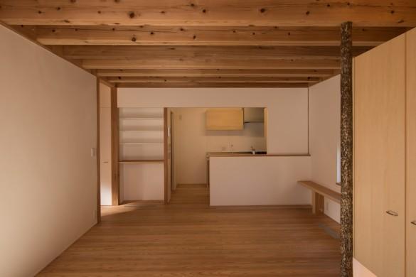 「深大寺の家」完成居間