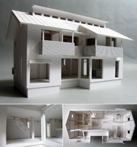 「善福寺の家・II」1:50の模型が出来ました