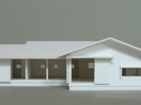 木組みの家「佐倉の平屋」模型1:50B