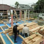 木組みの家「佐倉の平屋」建方