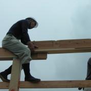 木組みの家「佐倉の平屋」建方2