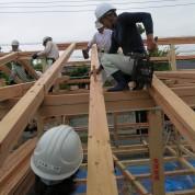 木組みの家「佐倉の平屋」建方3