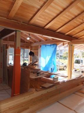 木組みの家「佐倉の平屋」大工工事2